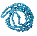 Turquoise (IM) Blue Chips 36 Inch Strand