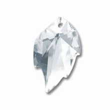 Swarovski 6735 Leaf Crystal Pendants Crystal 26x16mm