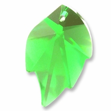 Swarovski 6735 Leaf Crystal Pendants Peridot 32x20mm