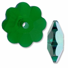Emerald AB 3700 Swarovski Marguerite Lochrose 6mm Beads (1PC)