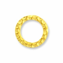 Gold Plated Hammertone Sm. Ring