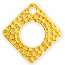 Gold Plated Hammertone Square
