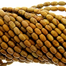 Gold Lace Agate 4x6mm Oval Beads 16 inch Strand