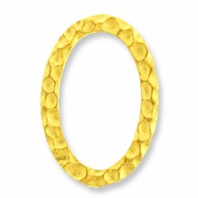Gold Plated Oval Hammered Ring