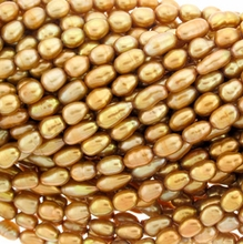 Golden Freshwater Rice Pearl 5-6mm Bead Strand