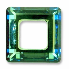 20mm Swarovski Square Ring 4439 Crystal Bermuda Blue