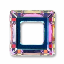 14mm Swarovski Square Ring 4439 Crystal Vitrail Light