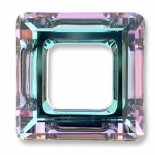 20mm Swarovski Square Ring 4439 Crystal Vitrail Light