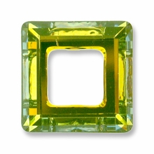 14mm Swarovski Square Ring 4439 Crystal Sahara