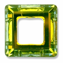 20mm Swarovski Square Ring 4439 Crystal Sahara