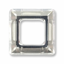 14mm Swarovski Square Ring 4439 Crystal Silver Shade CAL V SI