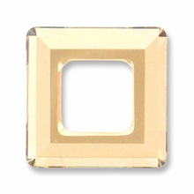 14mm Swarovski Square Ring 4439 Crystal Golden Shadow
