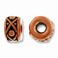 Antique Copper 8mm Lg. Hole Legend Spacer Bead Bead