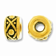 Antique Gold 8mm Lg. Hole Legend Bead