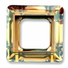 20mm Swarovski Square Ring 4439 Crystal Golden Shadow Cal V SI