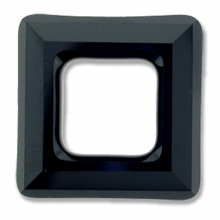 20mm Swarovski Square Ring 4439 Crystal Jet