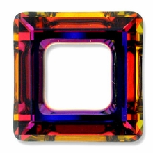 20mm Swarovski Square Ring 4439 Crystal Volcano