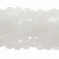 8mm Snow Quartz 16 Inch Bead Strand