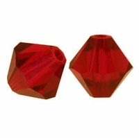 Majestic Crystal® Ruby Fire 8mm Faceted Bicone Crystal Beads (12PK)
