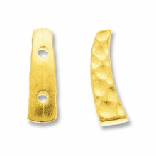Gold Plated Hammertone 2 Hole Link