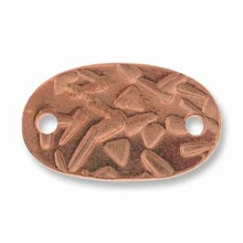 Abstract Oval Copper Link