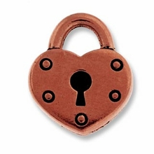 Antique Copper Lock Charm