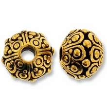 Antique Gold 10mm Oasis LH Bead