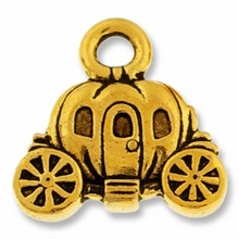 Antique Gold Carriage Charm