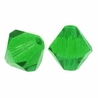 Majestic Crystal® Green 4mm Faceted Bicone Crystal Beads (36PK)