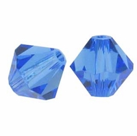 Majestic Crystal® Sapphire 4mm Faceted Bicone Crystal Beads (36PK)