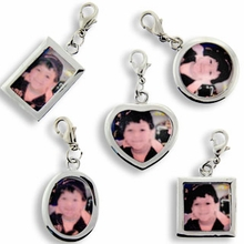 Set of 5 Photo Frame Charms Silver Plated