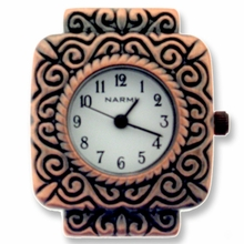 Antique Copper Two Hole Square Watch Face
