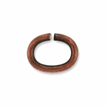 Antique Copper Plated 5x6mm Open Oval Jump Rings(10PK)
