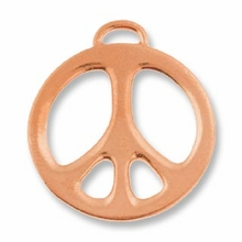 Antique Copper 1� Peace Charm