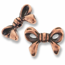 Antique Copper Bow Bead