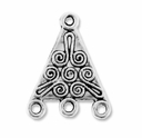 Antiqued Silver 1-3 Triangular 22x17mm Link (10PK)
