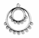 Antiqued Silver 1-9 Round 37x34mm Link (4PK)