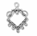 Antiqued Silver 1-5 Diamond 37x32mm Link (4PK)