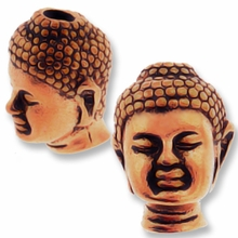 Antique Copper Buddha Bead