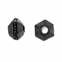 Black Finish 3mm Faceted Spacer Bead (10PK)