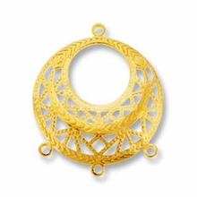 Gold Plated 3 Way Dangler Filigree (1PC)
