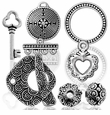 Silver Plated Pewter Beads, Charms, and Jewelry Findings