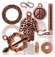 Copper Plated Pewter Beads Charms Jewelry Findings