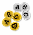 Oval Pewter Letter Beads