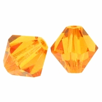 Majestic Crystal®  Topaz 4mm Faceted Bicone Crystal Beads (36PK)
