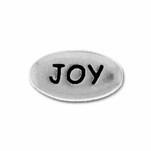 Pewter Silver Joy Bead