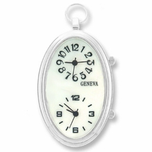 Large 50mm x 30mm Oval Watch Pendant