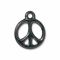 "Black Finish 5/8"" Peace Charm"
