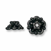 Black Finish 5mm Tiffany Bead Cap