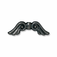 Black Finish Angel Wings Bead